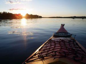 Kvällspaddling på Ljusnan. Foto: Helena Wildros.