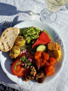 Vegetarisk middag. Foto: Helena Wildros