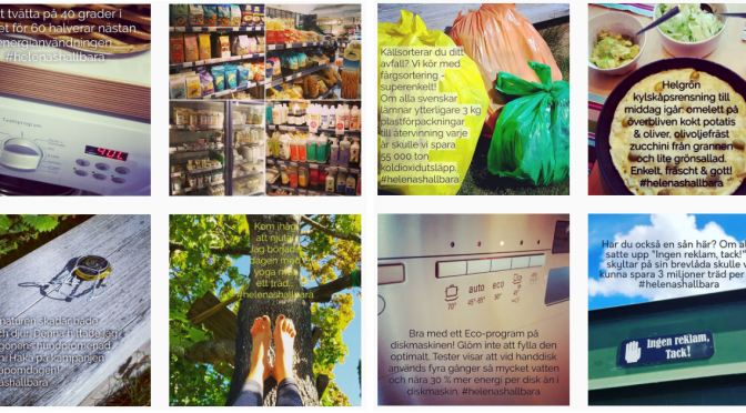 En halv månads hållbara tips på Instagram