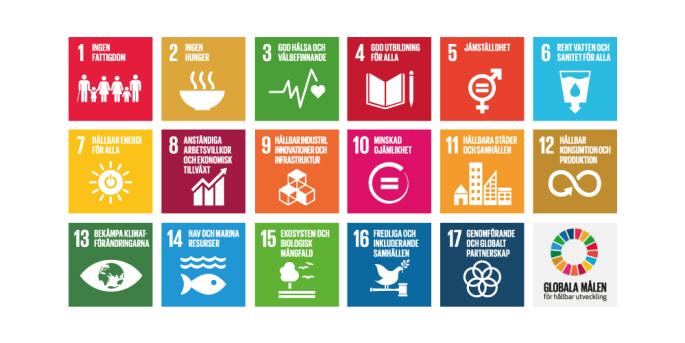 Känner du till de 17 globala målen för hållbar utveckling?